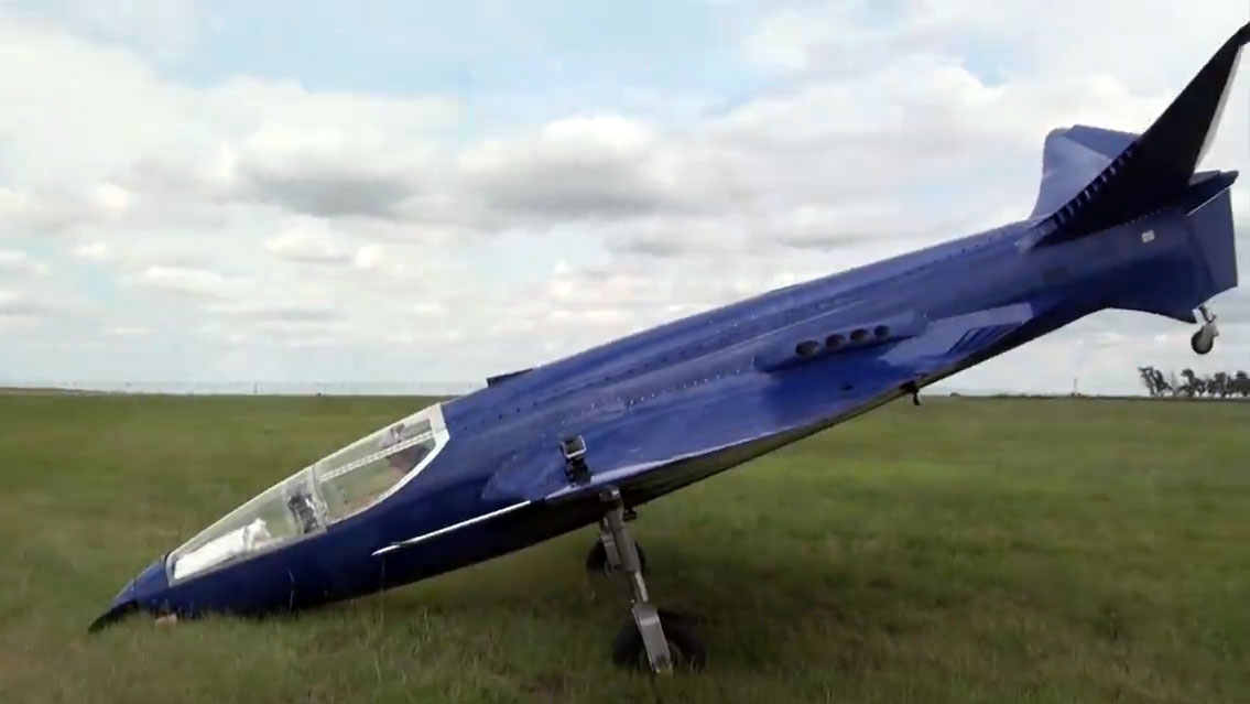 Bugatti 100p Replica Runs Off Runway