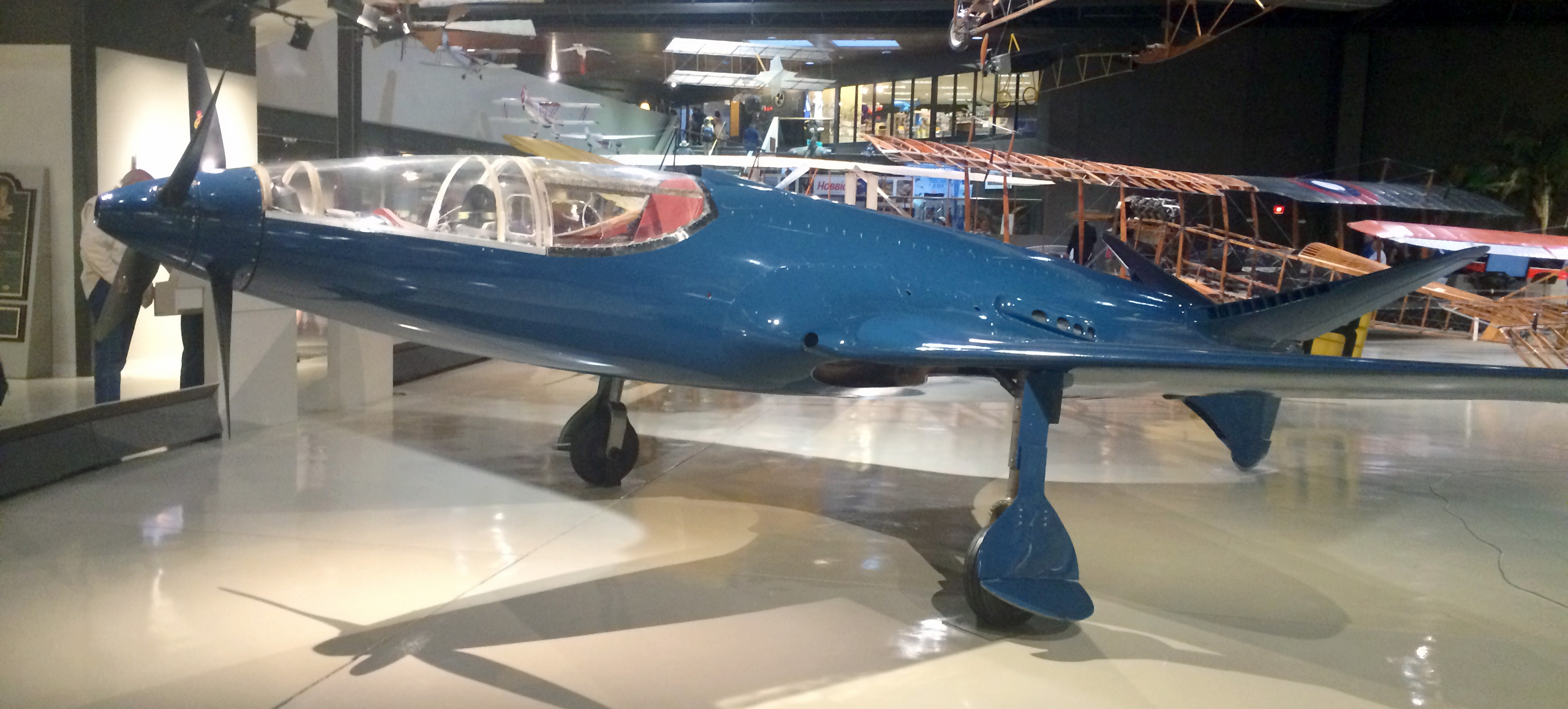 Original Bugatti 100p on display