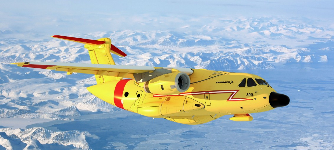 Embraer Announces Shiny New Yellow Search And Rescue Aircraft on Airplane Word Search